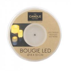 Grossiste bougie LED avec base en ciment 10x8cm