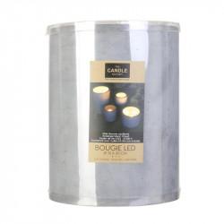 Grossiste bougie LED avec base en ciment 20x15cm