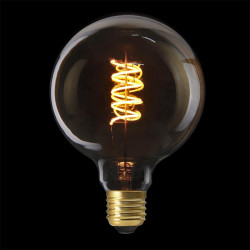 Grossiste ampoule g125 e27 avec led spiral ambré 2w