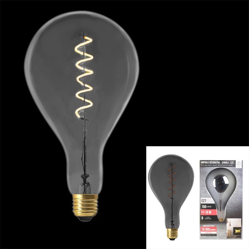 Grossiste ampoule PS160 E27 LED spiral irise 6W