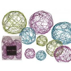 Grossiste boule décorative en fil de métal