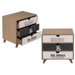 Grossiste rangement 3 tiroirs en bois