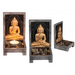 Grossiste bougeoir en bois bouddha