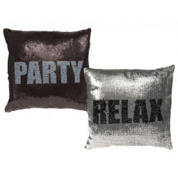 Grossiste coussin à sequin  message changeant party ou relax