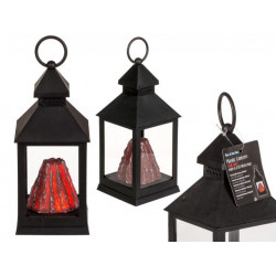Grossiste lanterne avec décor de volcan