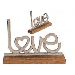 Grossiste paraphe love en métal sur socle en bois