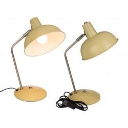 Grossiste lampe de bureau crème en métal de 35 cm