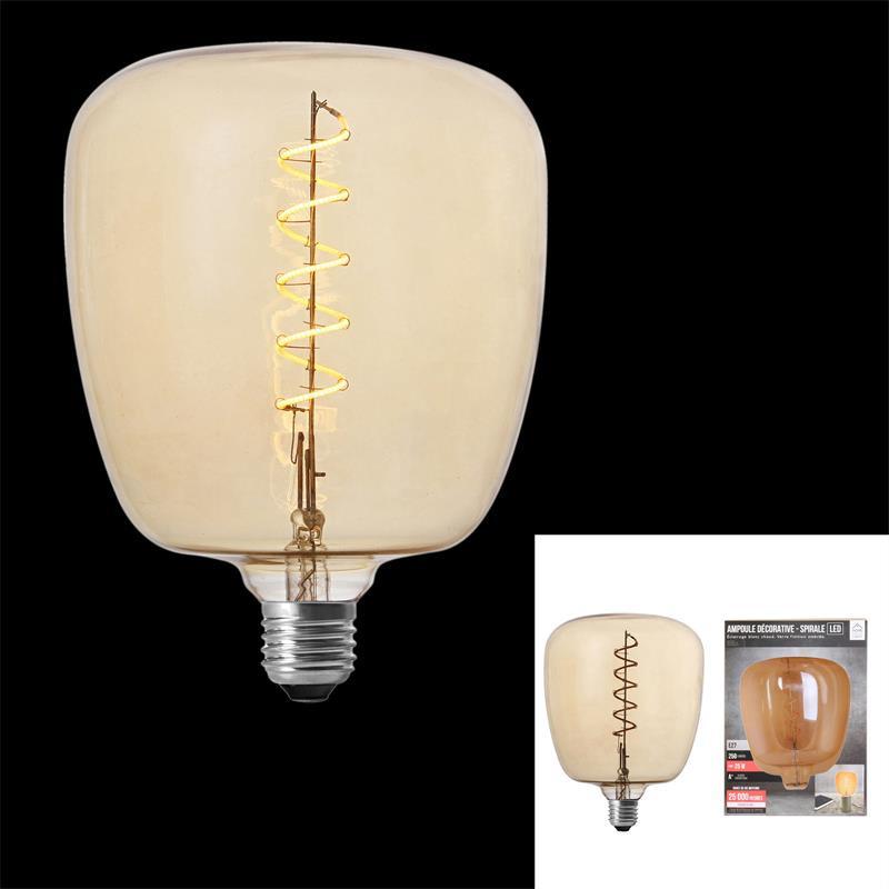 Grossiste ampoule carré 140x200mm e27 ambré 4w