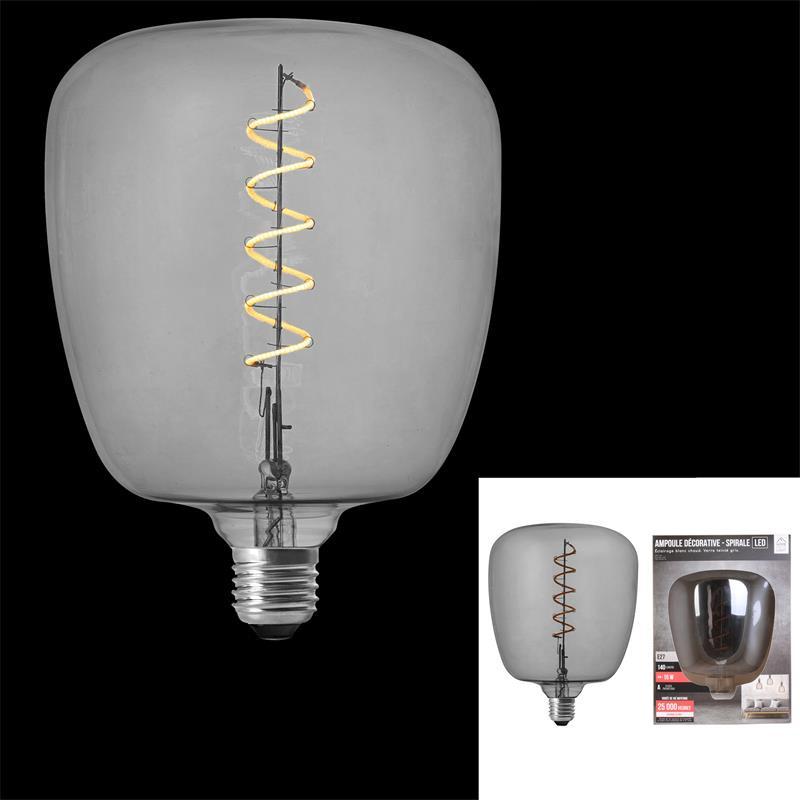 Grossiste ampoule carré 140x200mm e27 gris 4w