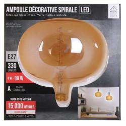 Grossiste ampoule en forme de bulle 220x225mm e27 ambré 6w