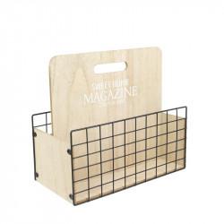 Grossiste range magazine en bois 31x16x27.5cm