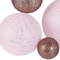 Grossiste guirlande avec boule 10LED multi-taille poudre 100cm
