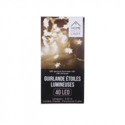 Grossiste guirlande étoilée 40LED lumière chaude 430cm