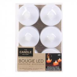 Bougie LED de table blanche 3.5x3.8cm