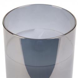 Grossiste bougie LED en verre gris fumé 10x7.5cm
