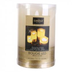 Grossiste bougie LED en fil doré 12.5x8cm