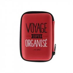Grossiste et fournisseur. Pochette voyage rouge et accessoires High Tech x 4