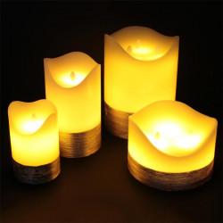 Grossiste bougie LED en fil doré 20x15cm
