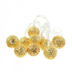 Grossiste guirlande métallique 10 LED oriental dorée