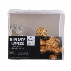 Grossiste guirlande métallique 10 LED oriental