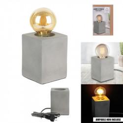 Grossiste lampe à poser cubique béton cable textile