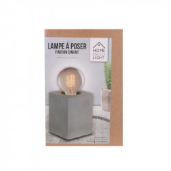 Grossiste lampe à poser cubique finition ciment