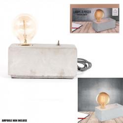 Grossiste lampe à poser rectangulaire béton