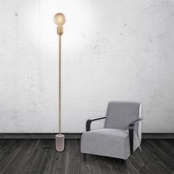 Grossiste lampadaire avec socle en béton 150x12x12cm