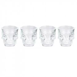 Skull shot glass x4