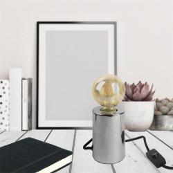 Grossiste lampe à poser argentée