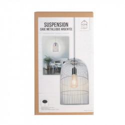 Grossiste suspension avec cage haute filaire argentée