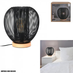 Grossiste lampe à poser avec boule filaire noire