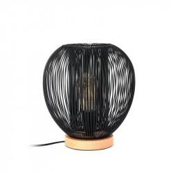 Lampe à poser avec boule filaire noire