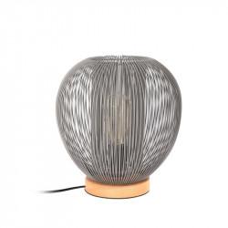 Grossiste lampe à poser avec boule filaire grise