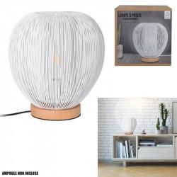Grossiste lampe à poser avec boule filaire blanche