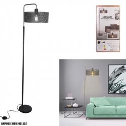 Grossiste lampadaire moderne gris avec socle en marbre