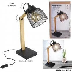 Grossiste lampe à poser métallique noire