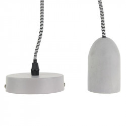 Grossiste suspension en béton avec câble textile noir et blanc