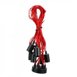 Grossiste suspension araignée avec lumière modulable rouge