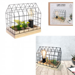 Grossiste lampe à poser avec grillage plante garden