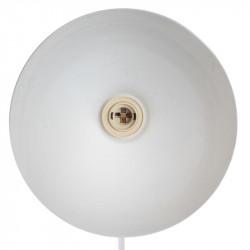 Grossiste lampadaire blanc 1.72m avec câble textile noir et blanc