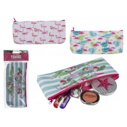 Grossiste trousse flamant rose