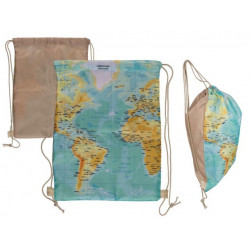 Grossiste sac à fermeture à coulisse motif carte du monde