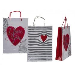 Grossiste sac cadeau à motif cœur de 34