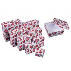 Grossiste lot de 8 boîtes cadeau petits cœurs