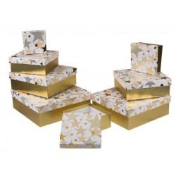 Grossiste lot de 8 boîtes cadeau à motif étoiles