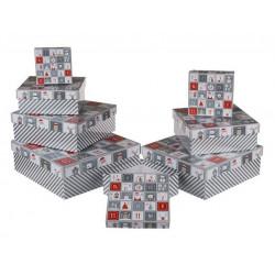 Grossiste lot de 8 boîtes cadeau à motif calendrier de l'avent