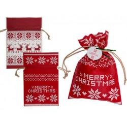 Grossiste sac cadeau de noël de 30 x 20 cm à motif rennes