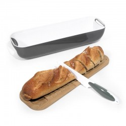 Bread box with bread knife...