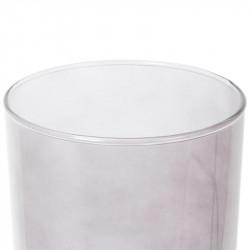 Grossiste lampe à poser grise en verre avec socle doré